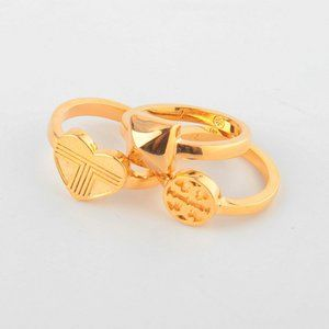 Tory Burch Hollow Hollow Three-layer Ring